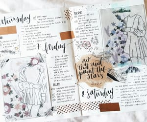 bullet journal, planner, and school image