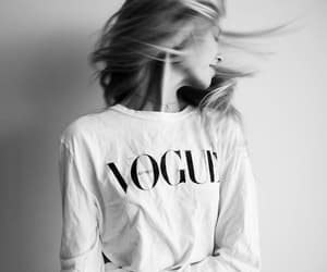 girl, hair, and vogue image