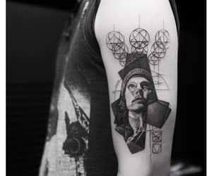 art, black and white, and heartagram image