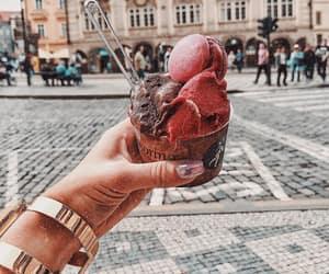food, icecream, and travel image