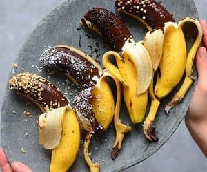 bananas, chocolate, and dessert image