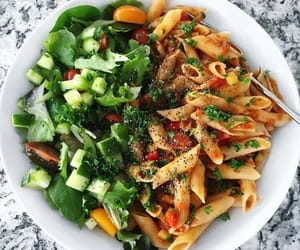 healthy, food, and pasta image
