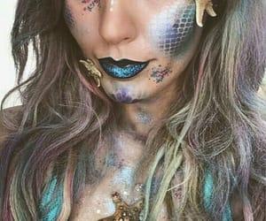 makeup, mermaids style, and mermaids image
