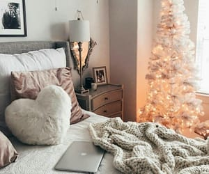 christmas, winter, and bedroom image