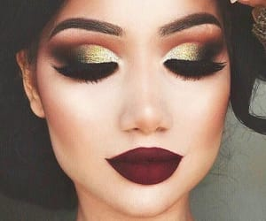 makeup and gold image
