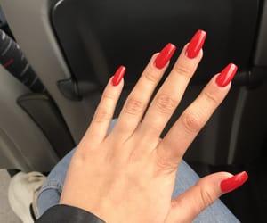 acrylics, coffin, and fake nails image