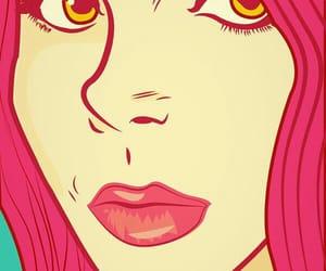 art, drawings, and eyes image