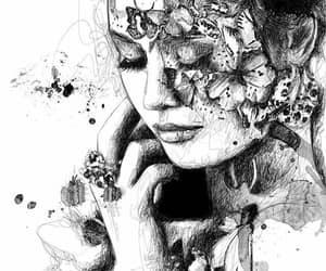 arte, belleza, and blanco y negro image