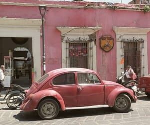 car, pink, and street image