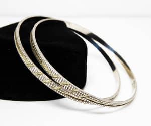 etsy, sterling silver, and bangle bracelets image