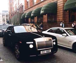 black, car, and rolls royce image