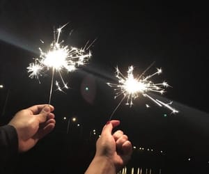black, fireworks, and friends image