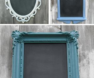 frame, chalkboard, and diy image