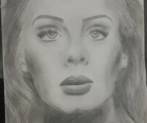 Adele, drawing, and pencil drawing image