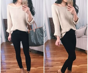 ankle boots, leggings, and sweater image