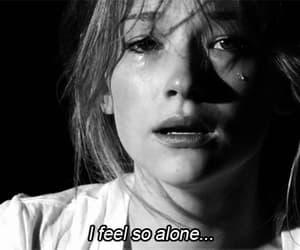 alone, sad, and cry image