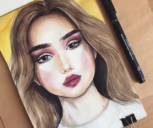 art, bright, and make up image