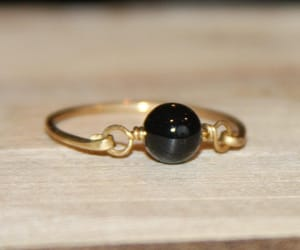 etsy, jewelry, and black ring image