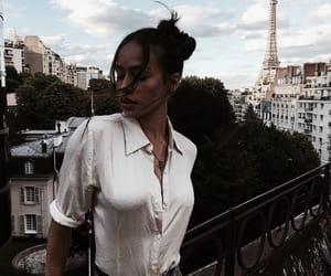 girl, paris, and bun image