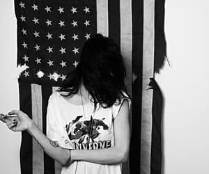frances bean cobain, black and white, and frances cobain image