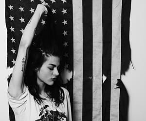 frances bean cobain, black and white, and usa image