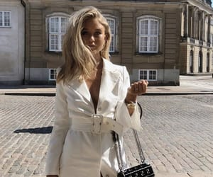 blonde, purse, and tanned image