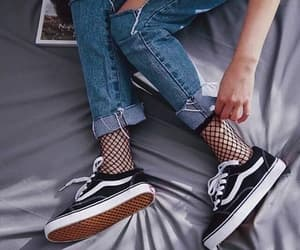 vans, fashion, and jeans image