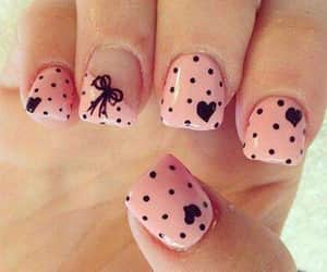 heart, nails, and nailart image