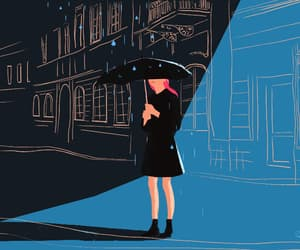 animation, gif, and rain image