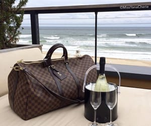 champagne, Louis Vuitton, and expensive image