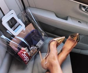 expensive, high heels, and purse image