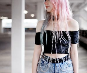 color hair, goth, and grunge image