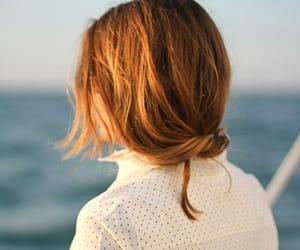 hair, sea, and photography image