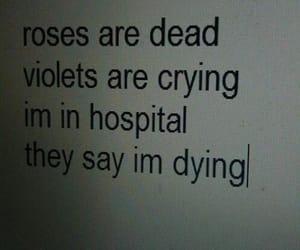 sad, dead, and hospital image