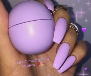 ghetto, purple, and nails image