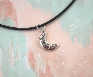 crescent moon, 90s grunge, and etsy image