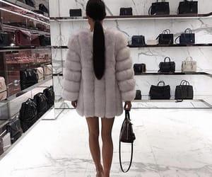 shopping, coat, and fur coat image