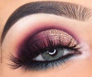 makeup, eye, and maquillage image