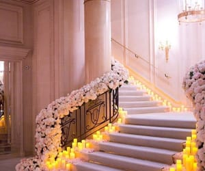luxury, candle, and flowers image