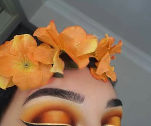 orange, makeup, and eyeliner image
