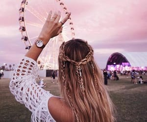 coachella, coachella vibes, and hair image
