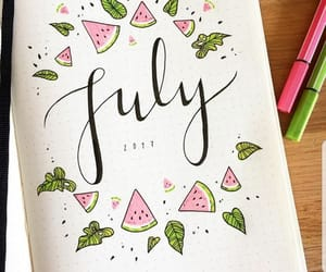 bullet journal, ideas, and july image