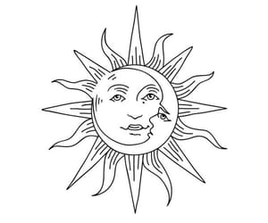 couple, love, and sun and moon image
