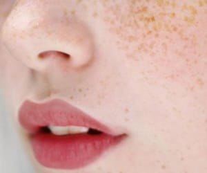 lips, freckles, and face image