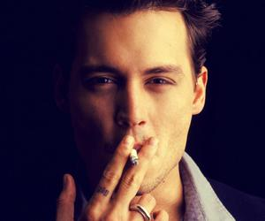 johnny depp, actor, and cigarette image