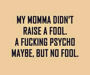 quotes, Psycho, and fool image