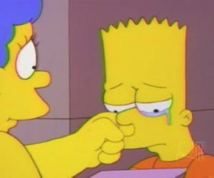 simpsons, bart, and cry image