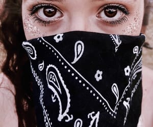bandana, coachella, and eyes image