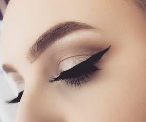 eyeliner, makeup, and wingedliner image