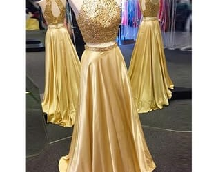 two pieces prom dress and 2 pieces prom dress image